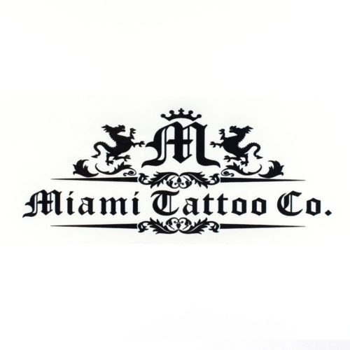 Miami Tattoo Co Logo Black Sticker